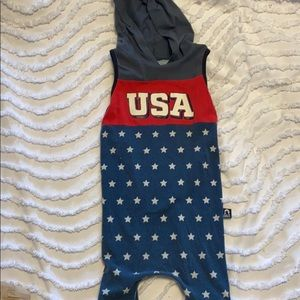 RAGS USA 4th of July Romper sz 2T
